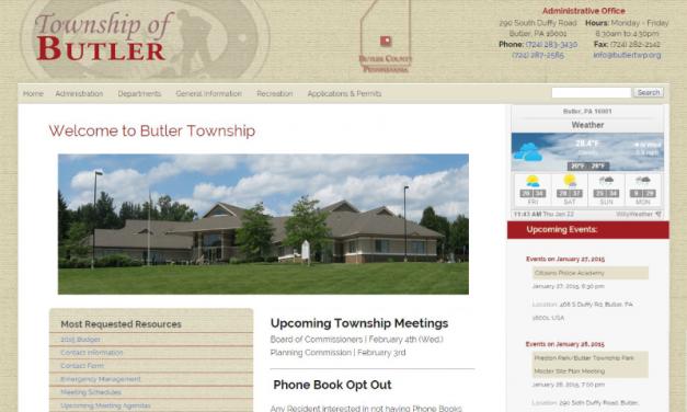 Butler Township Responsive Website Design