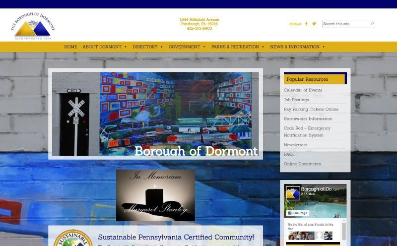 Borough of Dormont Website Redesign