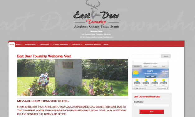 East Deer Township Website Design