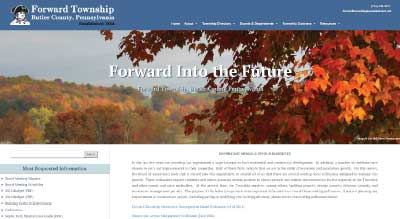 Forward Township Responsive Website Design