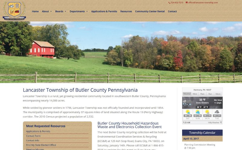 Lancaster Township Website Redesign