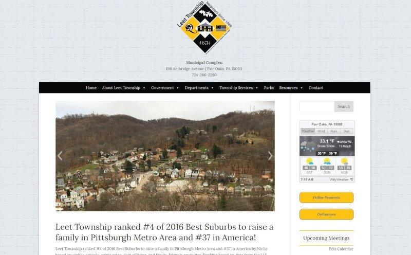 Leet Township Responsive Website Design