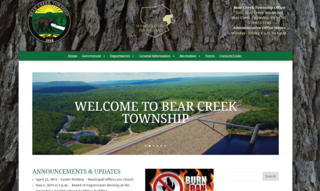 Bear Creek Township Website Design