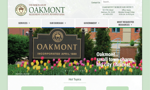 Borough of Oakmont Website Redesign