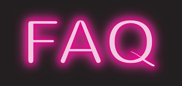 FAQ - Neon sign