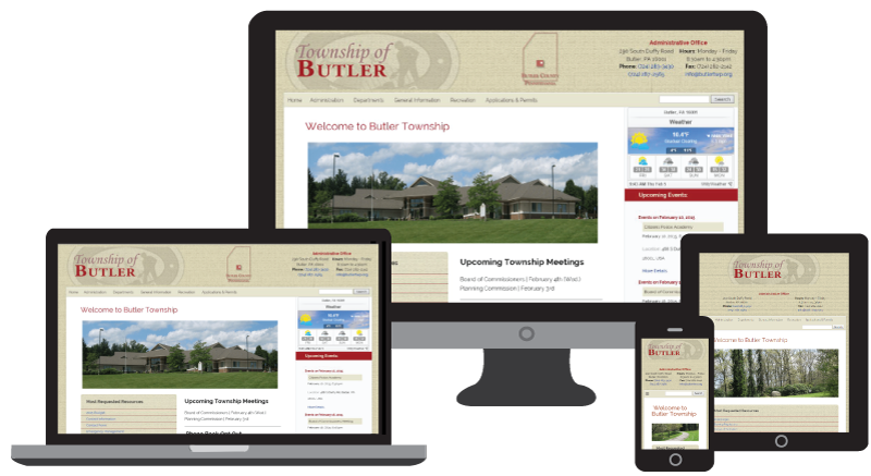 Butler Township Website Responsive Design