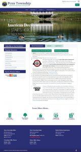 Screenshot Penn Township Website After Redesign