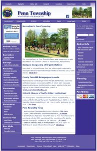 Penn Township Website Screenshot Before Redesign