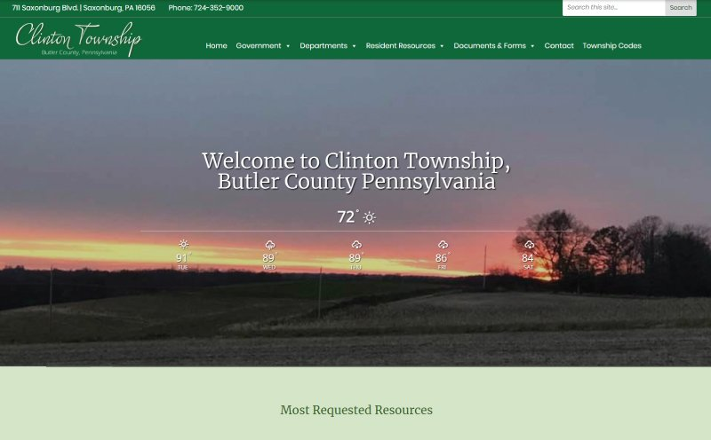 Clinton Township Website Design