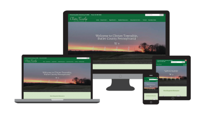 Clinton Township Website on multiple devices