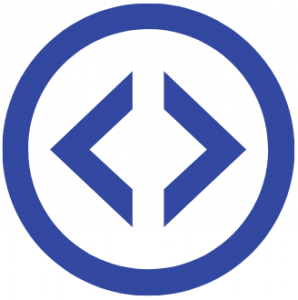 Blue HTML Coding Symbols