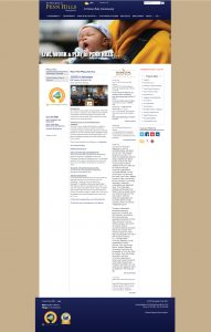 A screenshot of the Penn Hills homepage before the redesign. The homepage is text have and the design is outdated.
